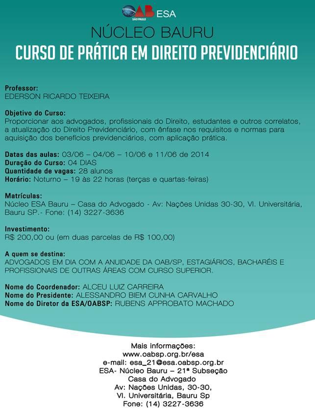 Curso de Prática em Direito Previdenciário