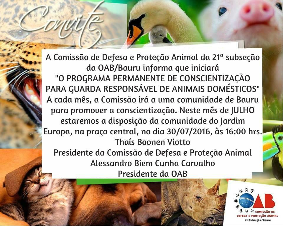 Convite programa de conscientização 1